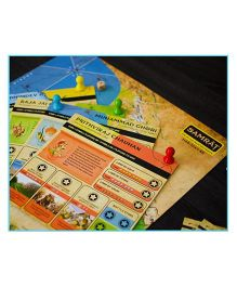 Kitki SAMRAT Fun Strategy Board Game - Multi Color