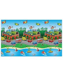 FashBlush Non Woven Free PlayMat Transport Print - Multicolor