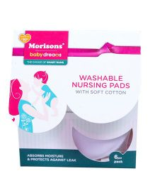 Morisons Baby Dreams Washable Nursing Pads - Pack of 6