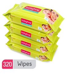 Babyhug Premium Baby Wipes - 80 Pieces (Pack Of 4)