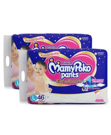MamyPoko Extra Absorb Pant Style Diaper Large Size - 46 Pieces ( Pack of 2 )