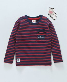 Scampy Striped Full Sleeves Tee - Red