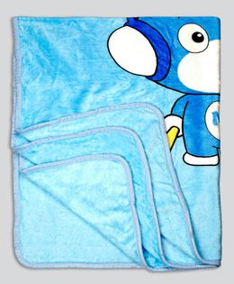 Kidlingss Single Ply Mink Blanket Panda Print - Blue