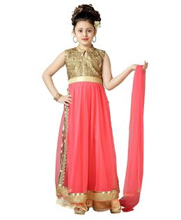 Aarika Flower Embroidered Sleeveless Kurti With Palazzo & Dupatta Set - Pink