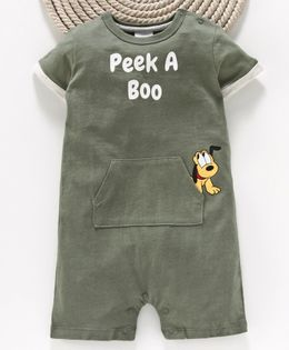 Fox Baby Short Sleeves Romper Pluto Print - Green