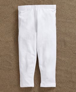 Fox Baby Full Length Leggings - White
