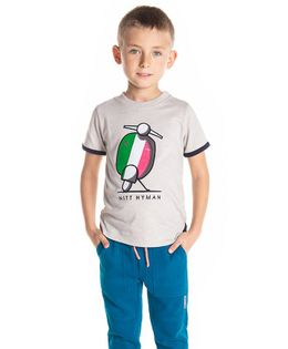 Cherry Crumble California Scooter Printed Half Sleeves T-Shirt - Grey