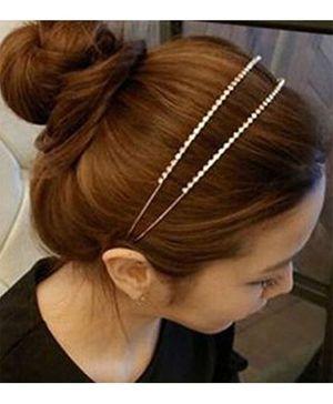 Flaunt Chic Diamond Hair Band - Silver