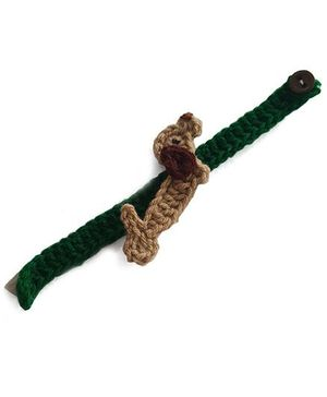 Soulfulsaai Kids Crochet Dog Rakhi - Brown