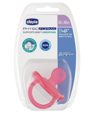 Chicco Physio Soft Silicone Orthodontic Soother Pink - 1 Piece