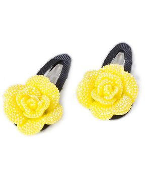 Treasure Trove Sparkling Tiny Flower Hair Clip Pack of 2 - Yellow