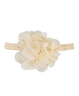 The KidShop Lace Chiffon Headband - Cream