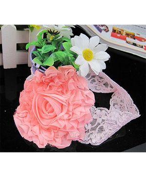 Akinos Kids Designer Net Floral Headband - Pink
