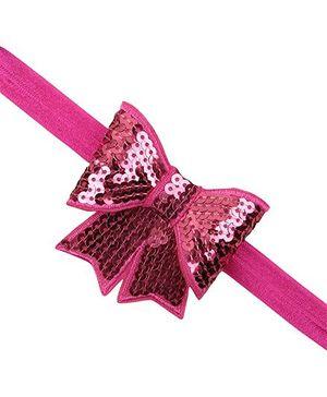 Akinos Kids Sequin Bow Knot Headband - Pink