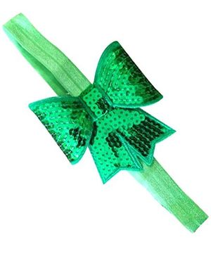 Akinos Kids Sequin Bow Knot Headband - Green