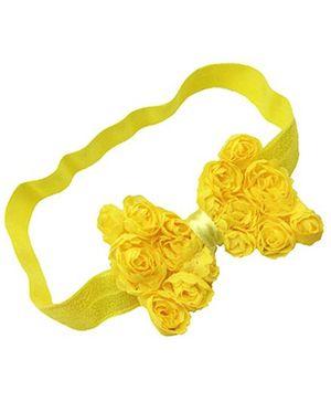 Akinos Kids Floral Bow Headband - Yellow