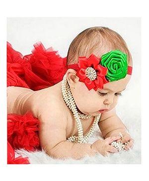 Akinos Kids Rose Flower Headband - Red
