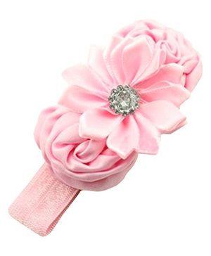 Akinos Kids Three Flowers Headband - Light Pink