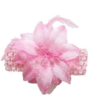 Akinos Kids Enchanting Crochet Flower Headband - Pink