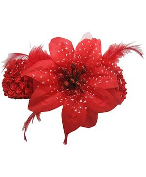 Akinos Kids Enchanting Crochet Flower Headband - Red