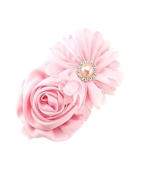 Akinos Kids Rose Lace Flower Headband - Pink