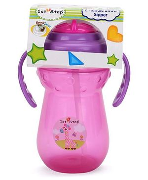 1st Step Two Handle Straw Sipper Pink - 360 ml