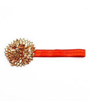 D'chica I Love India Headband - Orange  And Gold
