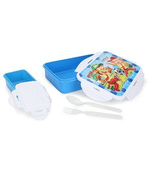 Pratap Hyper Locked Lunch Box Set - Blue White