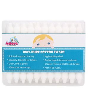 Adore Baby Cotton Swabs - 55 Pieces