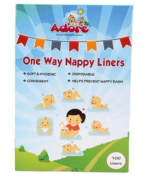 Adore One Way Nappy Liners - 100 Pieces