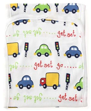 Adore Baby Belly Binder Vehicle Print - White