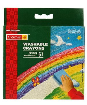 Camel Washable Crayons - 6 Shades