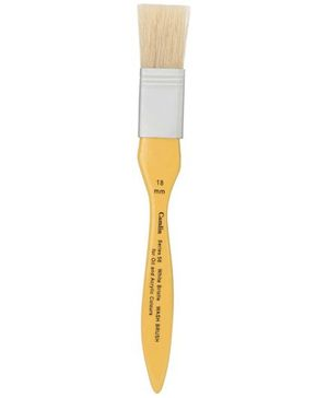 Camlin Paint Brush For Oil And Acrylic Colors Yellow