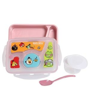 Angry Birds - Lunch Box With Bowl And Spoon