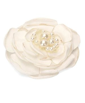 Funkrafts Rose Hair Clip - Cream