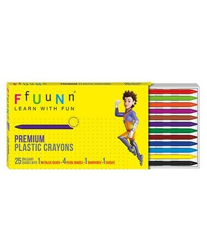 FfUuNn Premium Plastic Crayons Multicolor - Pack of 25