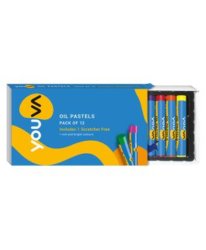 Youva Oil Pastels - Pack of 12 Shades