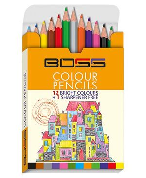Boss Color Pencil Half - Pack of 12