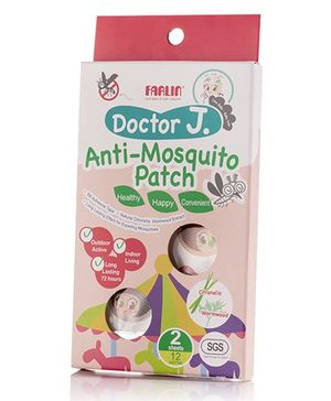 Farlin Doctor J Anti Mosquito Patch With Citronella & Wormwood Extract BCK 002 - Pack Of 12