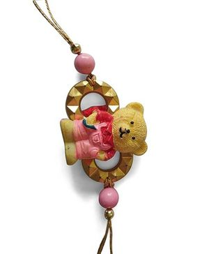 Dells World Teddy Bear Rakhi - Pink