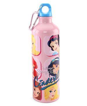 Disney Cinderella Metal Sipper Bottle Pink - 750 ml