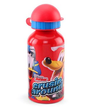 Disney Mickey Mouse Metal Sipper Bottle Red - 400 ml