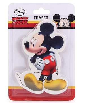 Disney Mickey Mouse Die Cut Eraser - Black Red Yellow