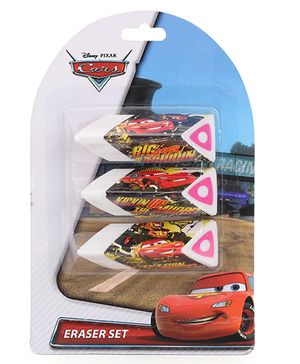 Disney Pixar Cars Chocolate Shaped Erasers - Pack Of 3