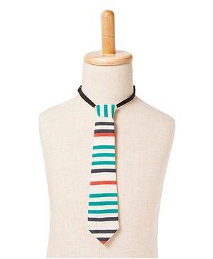 Brown Bows Stripe Tie - Multicolour