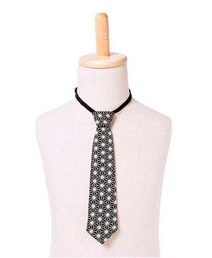 Brown Bows Tie Web Print - Black