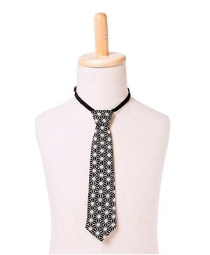 Brown Bows Tie Web Print - Black