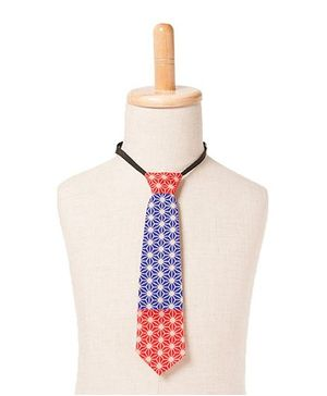 Brown Bows Tie Web Print - Blue Red