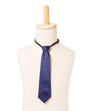 Brown Bows Satin Tie - Navy