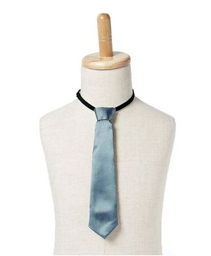 Brown Bows Satin Tie - Grey